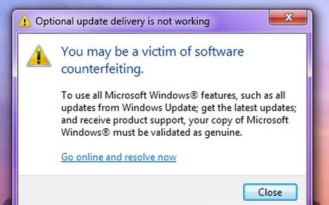 Fix You May Be a Victim of Software Counterfeiting On Windows XP/7/8/10